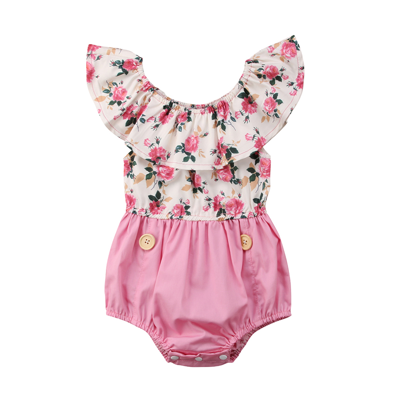 Rompers Girls' Baby Clothing 2018 Fashion Summer Newborn Infant Baby Girls Bear Romper Jumpsuit Outfits Clothes One Piece Set Casual Sleeveless Belt Clothing