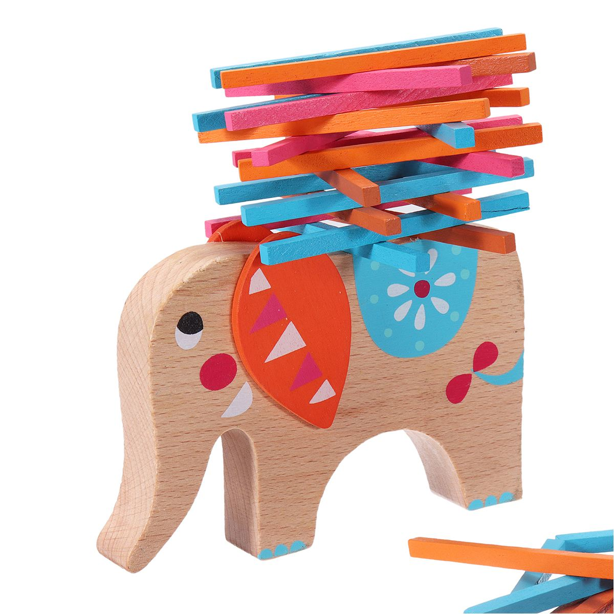 Montessori Toy Wooden Elephant Color Rod Balance Beam Children s Puzzle Educational Toys For Children