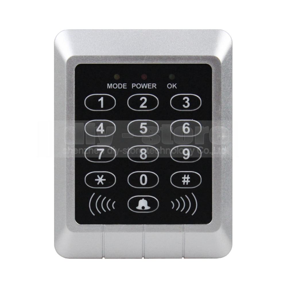 DIYSECUR 125KHz RFID ID Card Reader Access Controller Keypad Security Kit + Free10 ID Key Fobs KS157 diysecur lcd 125khz rfid keypad password id card reader door access controller 10 free id key tag b100