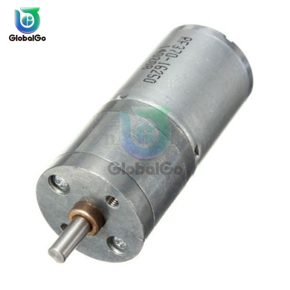 Mini DC <font><b>Motor</b></font> Speed Controller DC <font><b>12V</b></font> 60RPM <font><b>Motor</b></font> Speed Reduction Gear <font><b>Motor</b></font> Electric Powerful Torque <font><b>25mm</b></font> image