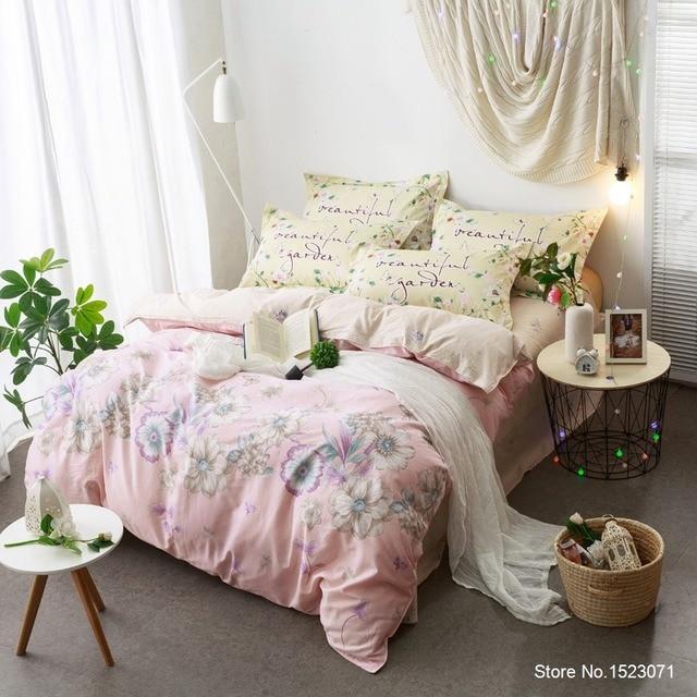 Rosa Blume Böhmischen Bettbezüge Mädchen Bettwäsche Baumwolle Stoff  Bettlaken Bettwäsche Queen Size Bettbezug Bettdecke Schlafzimmer