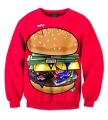 Real USA Size 3D Sublimation print Crewneck Sweatshirt Money Hungry fleece streetwear plus size