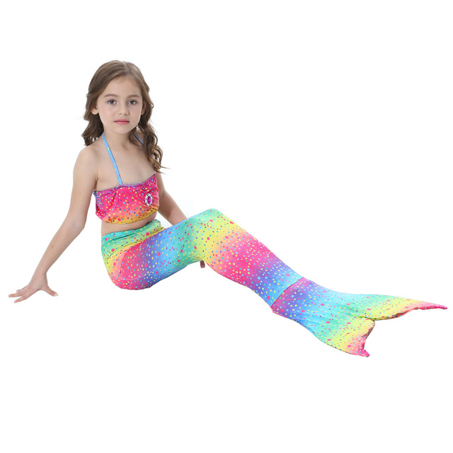 Children Mermaid Tail Kids Girls Cosplay Costumes Swimming Mermaid Tail  Mermaid Swimsuit Tail Only No Monofin a46ad6745c53