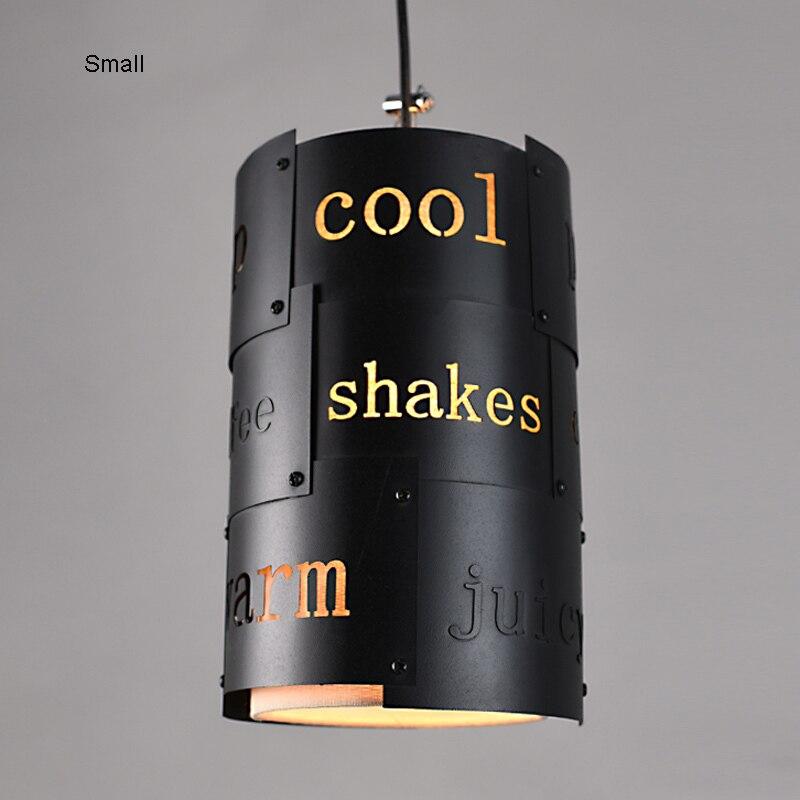 Ретро промышленный Лофт черный металлический подвесной светильник винтажный креативный английский буквенный Бар Кафе подвесной светильник освещение PL628 - 4