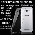 Transparente super slim tpu soft case para samsung galaxy note 2 3 4 5 j5 a3 5 7 7 8 s3 4 5 mini s6 s7 borde plus + clara case