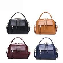 Genuine Leather Shoulder Bag Women With Pockets Designer Handbags High Quality Zipper Messenger Bags Women Bag 2019 Brand все цены