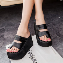 Summer new arrival 2016 flip flops platform wedges sandals women foot wrapping beach slippers women's shoes sandals
