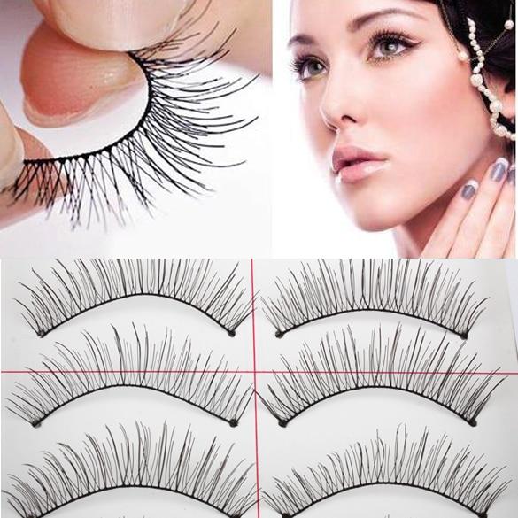 10 Pairs Thin Natural Eyelashes Extension Eye Beauty Makeup Accessories Soft Hair Eyelashes False Eyelashes HB88