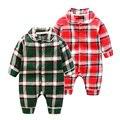Новорожденный одежда младенческой ползунки с длинными рукавами восхождение одежды