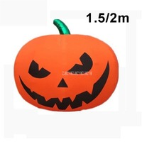 1.5m/2m Big Luminous LED Color Pumpkin Lantern Air Inflatable Balloon Cartoon Night Bar Halloween Ball Birthday Party Decoration