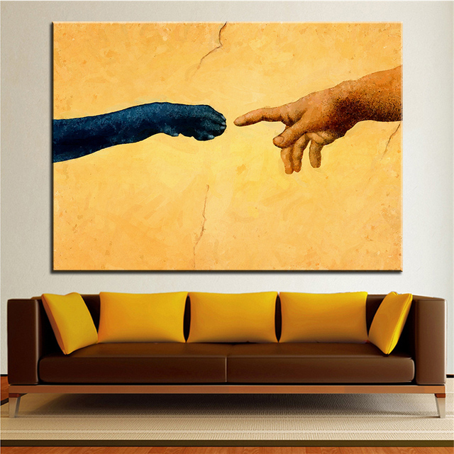 Large size Printing Oil Painting monday god made labs Wall painting ...