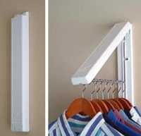 Multipurpose Fashion Indoor Wall Hanger Creative Invisible Folding Hanger Bedroom Drying Coat Rack Free Shipping