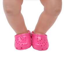 Baby toy shoes 43cm baby sandals jelly sand beach swimming spare child doll toy accessories G21 g21 одежда