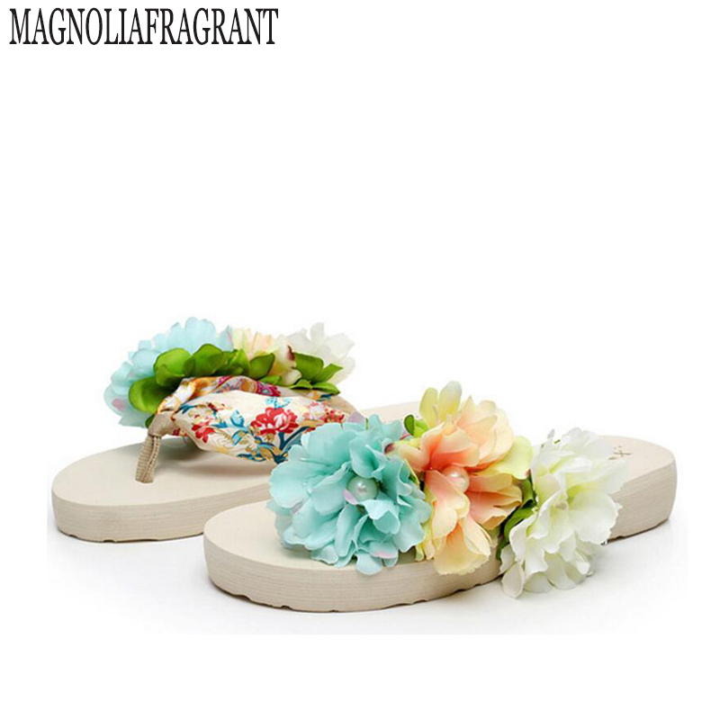 2017 summer slippers shoes woman handmade flip flops with flowers in satin sandals Tourism sandalias mujer s226 mcintosh tourism – principles practices philosophies 5ed