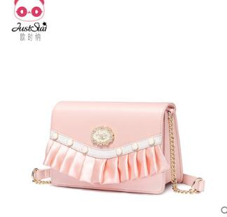 Princess sweet lolita bag Autumn winter fashion single shoulder bag leisure satchel Korean version small square bag chain 171970 кольцо happy charms family happy charms family ha009dwtsr28