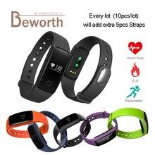 V05C спортивные Смарт Браслет монитор сердечного ритма Смарт часы Bluetooth для iPhone Шагомер фитнес-трекер VS ID107