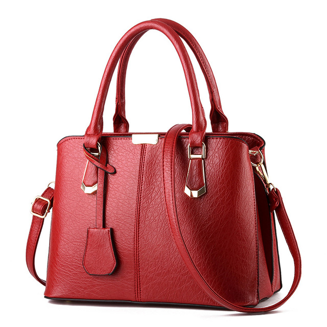 New Arrival PU Leather Handbags Casual Women Shoulder Bag Designers Ladies  Hand Bags Simple Style Crossbody 27a4e6c08c