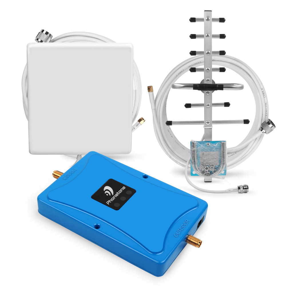 100% Original Phonetone 4G LTE 700MHz 63dB AT&T Signal Booster Band 12 & 17 Cellular Repeater with Yagi Antenna for Home Use