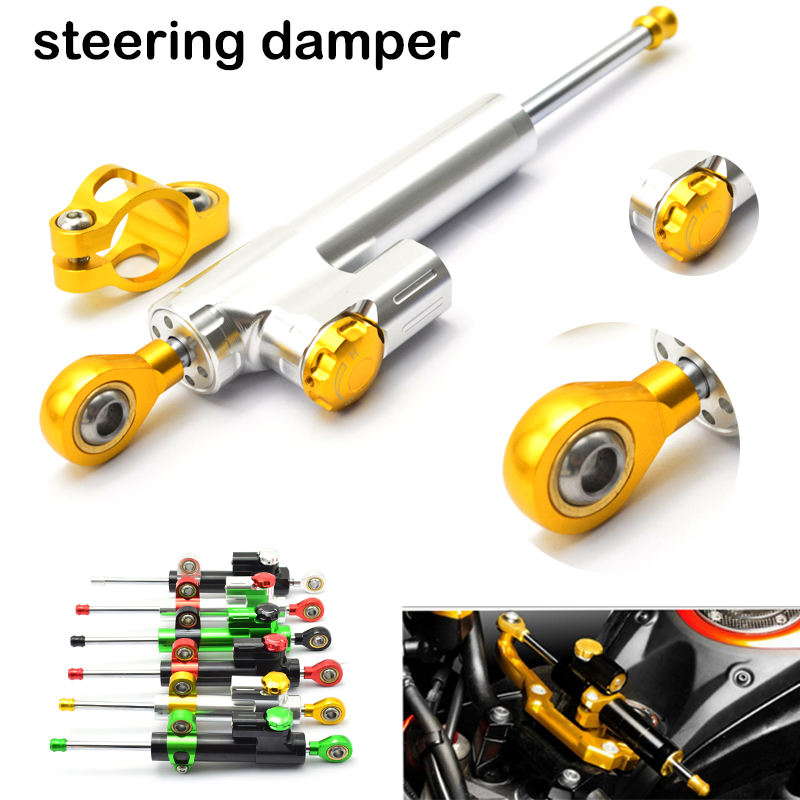for CNC Damper Steering StabilizerLinear Reversed Safety Control Over for yamaha xj6 mt-09 tracer mt 09 xjr 1300 fz8 yz450f mt09