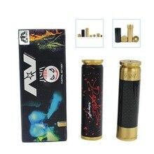 Gold Plated center column AV MOD 510 line 18650 battery MODES DEDETER magnetic lock fire button mechanical MODS VAPE