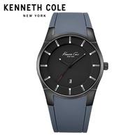 Kenneth Cole Original Mens Watches KC10027722 Silicone Strap Quartz Buckle Waterproof Gold Black Lighter Luxury Brand Watches