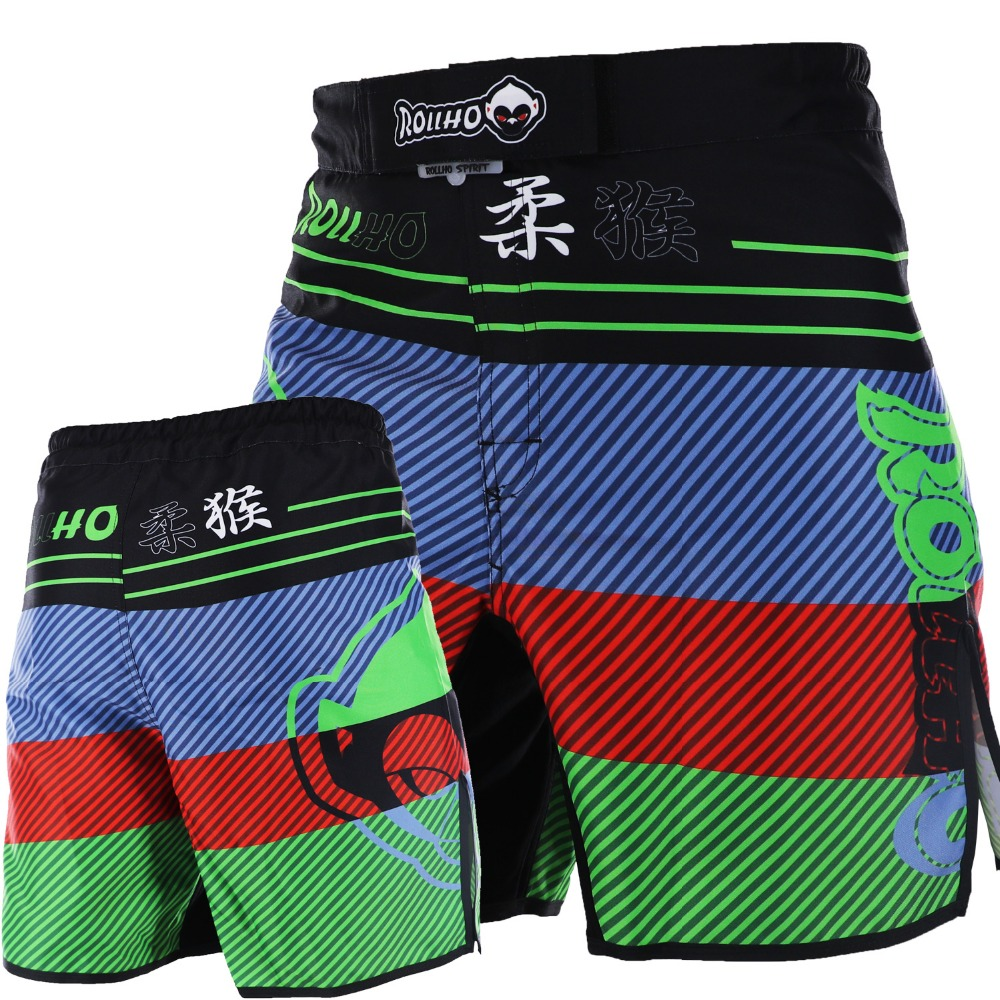 ROLLHO mma shorts men's kick boxing trunks MMA SHORTS fitness gym BJJ shorts mma combat training board short MMa tianyu jade