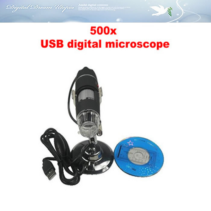 Free ship! Digital 500x usb digital microscope, magnifying glass 2.0M pixels, magnifier 5x - 500x with Measurement Software hot  цены