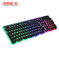 iMice Game Backlit Gaming Keyboard With Backlight RGB Gamer For Computer PC Laptop LED Keycaps Key Cap Board USB Keybord Player