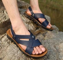 Men's fashion casual leather sandals men sandals