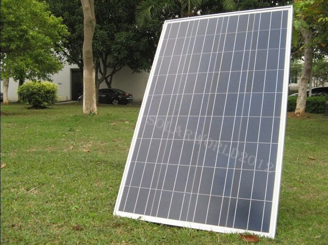 DE stock Large USA style 300W COMPLETE KIT: 3*100W WATT PV poly Solar cell Panel 12V on grid solar system# * no taxis no duty