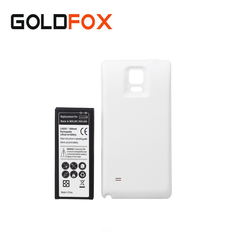 Note4 Phone Extended Thicker <font><b>Battery</b></font> 6800mah For <font><b>Samsung</b></font> Galaxy <font><b>Note</b></font> <font><b>4</b></font> N9100 N910F N910H N910 Batteria + Back Door Cover Case