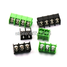 Terminal-Block Black 100PCS 3P 4P Straight-Pin-Barrier 4pin ROHS 3pin 2pin