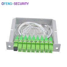SC APC PLC Splitter 1X8 splitter Fiber Optical Box,FTTH PLC Splitter box with 1X8 Planar waveguide type(China)