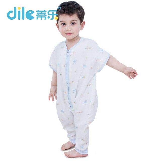 Dile Детские Sleepsacks Спальный Мешок для весна Печати С Коротким Рукавом Мода мужская 0-6years