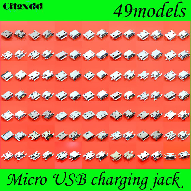 Cltgxdd 49モデルマイクロusbジャックコネクタ充電ポートプラグソケット5ピン用サムスンhtcレノボhuawei...携帯電話タブレットpc