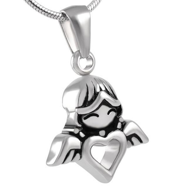 Little Angel Heart Urn Necklace