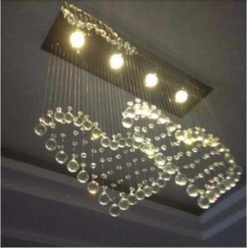 US $100.0 |Moderne kristall restaurant kronleuchter einfache led  schlafzimmer kristall lampe herz formte hängende lampe rechteckige Decke  lampe in ...