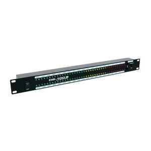 Image 2 - DB100 profesyonel sahne ev amplifikatör hoparlör çift 40 spektrum ses LED Stereo seviyesi göstergesi 57dB 0dB