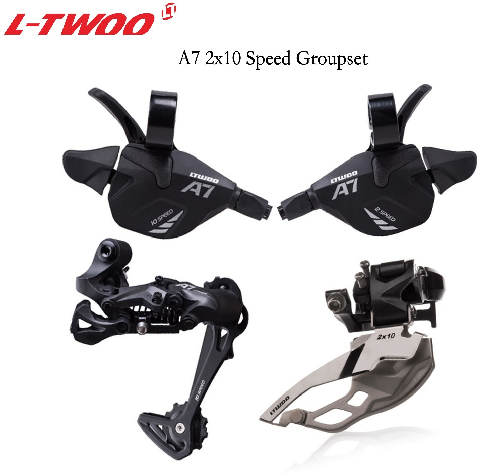 LTWOO <font><b>Groupset</b></font> LTWOO A7 <font><b>2X10</b></font> Speed Shifter lever+Front /Rear Derailleur for MTB Bike 20speed Cassette Sprockets 32T 36T 40T image