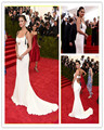 Hot Sell Celebrity Dresses 2017 Met Gala Selena Gomez White Sweetheart Mermaid Evening Gowns Party Prom Formal Sexy Red Carpet