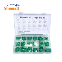 "High Temperature 265PC O-ring Kit Green Metric ""O""-ring Seal Seals Nitrile Rubber Automotive Air Conditioning Refrigerant Ring"