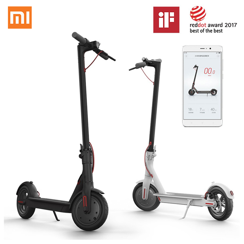 Original Xiaomi Scooter Mijia Smart Mini Electric Scooter Skate Board 2 Wheels Adult Foldable Hoverboard M365 30km Life with APP original xiaomi mijia qicycle ef1 electric scooter bicycle mini scooter foldable electric bike e bike xiaomi brand scooters