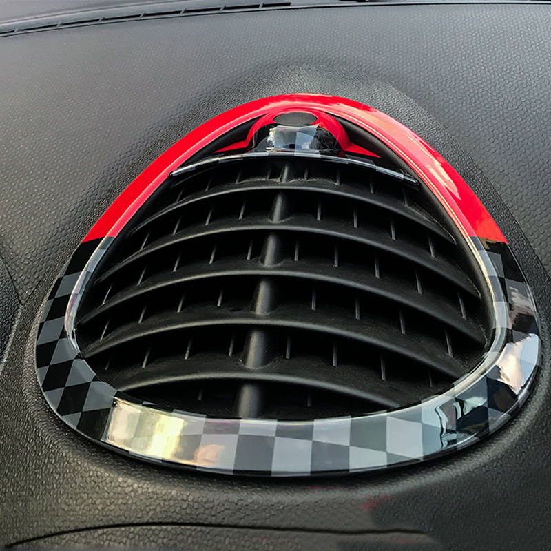 ABS Car Dashboard Air Condition Vent Decoration Cover Trim Sticker For Mini Cooper Countryman R60 Car-styling Accessories stainless steel car front wheel fender air vent cover trim anti scratch car body sticker for mini cooper clubman f54 car styling