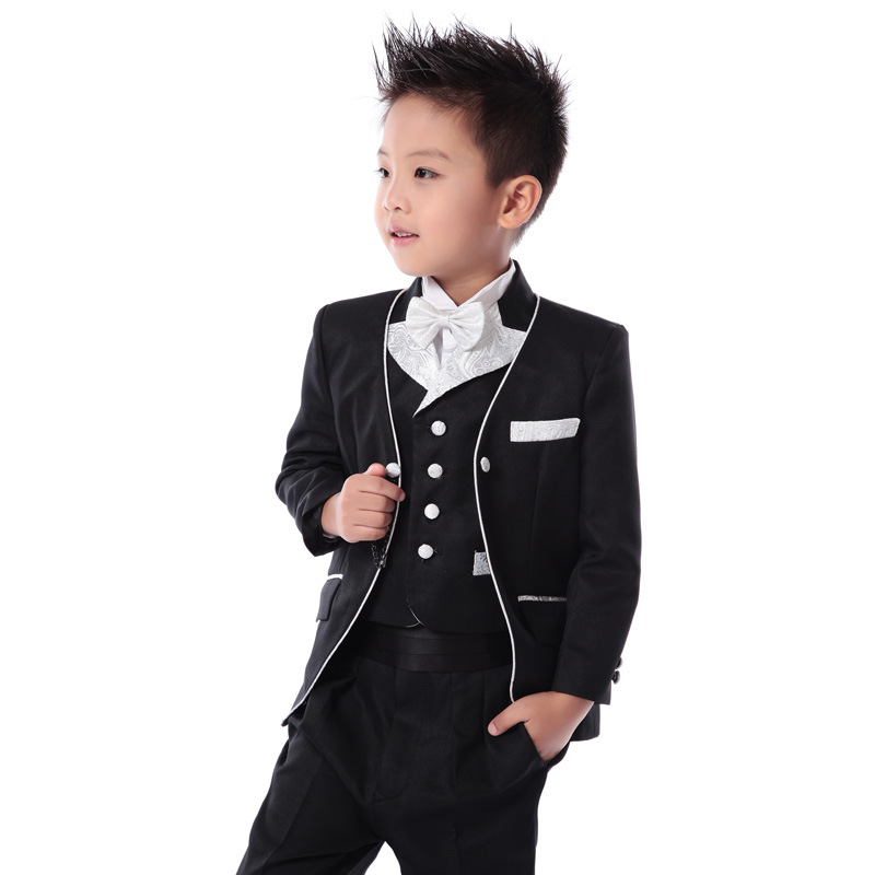 Five piece suits boys suits male flower girl dresses boys for Boys dress clothes wedding