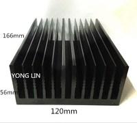 Disipador de calor de aluminio de 1 pieza/disipador de calor negro 120*56-166mm/radiador de alta potencia/chasis radiador