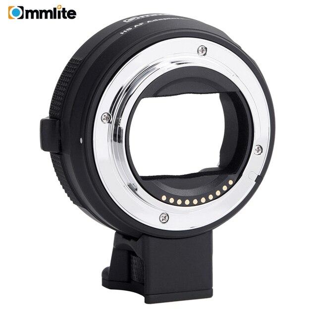 Commlite anillo adaptador de lente AF electrónico para objetivo Canon EF/EF S a cámaras e mount para Sony A7 A9 A7II A7RII A7RIII A6500 etc.