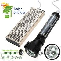 Oobest solar latarka LED Latarka lanterna Zewnątrz ucieczki młotek bezpieczeństwa latarka oszczędzania energii lampa błyskowa Wielofunkcyjne