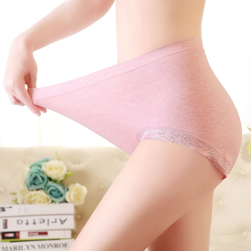 Large Size Women   Panties   with High Waist Underwear Ladies Briefs Big Size Sexy Lace Plus Size Cotton Seamless   Panties   Female 4XL
