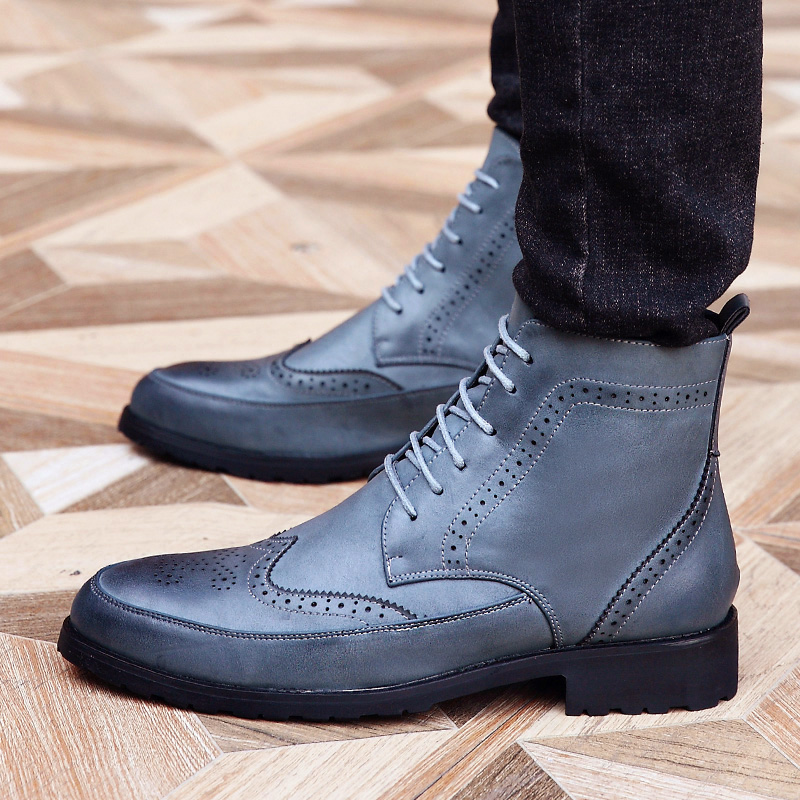 Hot 2016 Fashion Men Shoes Spring Autumn Ankle Boots Men Comfortable Brogue Shoes  Men Casual Male Martin Boots Plus Size38 43-in Basic Boots from Shoes on ...