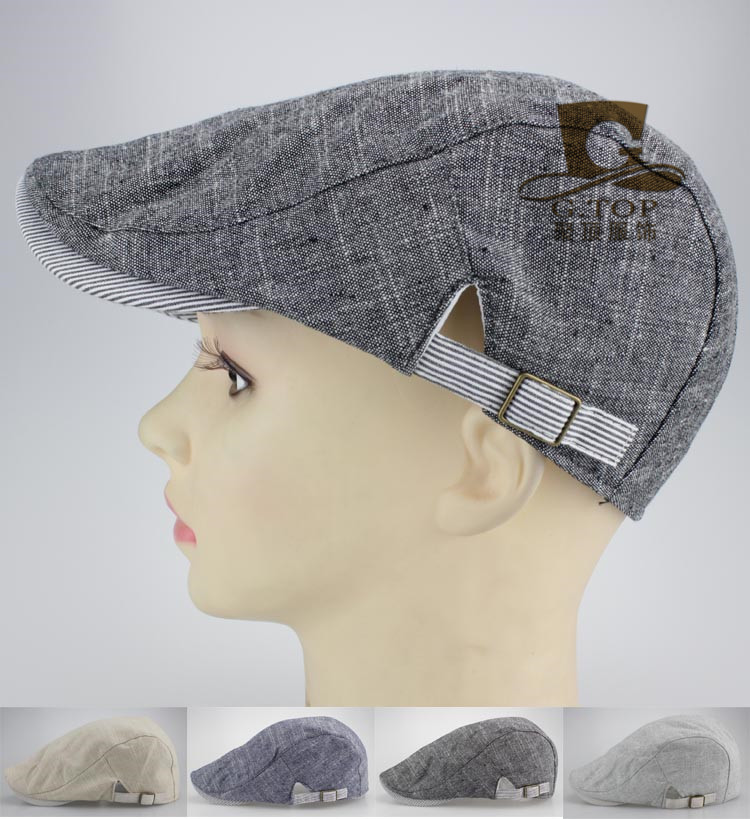 NEW Cotton Casual Spring Autumn Hat Duckbill Beret Cap Golf Driving Flat Cap Cabbie News ...